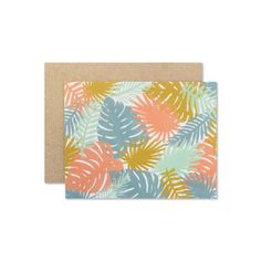 Palms Card  Illustrated and printed on a heavyweight paper stock with archival ink.  Blank inside, includes kraft paper envelope.  A2 Size  5.5 x 4.25