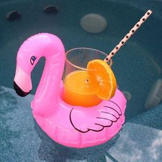 Inflatable Flamingo Coozie  Flamingo lover gift  by RichBrokeBtq