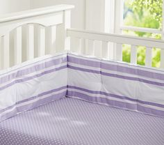 Mini Dot Crib Fitted Sheet, Light Lavender