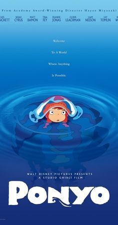 Directed by Hayao Miyazaki.  With Cate Blanchett, Matt Damon, Liam Neeson, Tomoko Yamaguchi. An adventure about a five-year-old boy and his relationship with Ponyo, a goldfish princess who longs to become a human after falling in love with him.