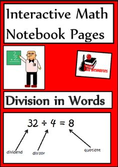 Teach your students how to describe their division problems using proper vocabulary with this Division in Words Interactive Math Notebook lesson. Reference page and 5 reflection options for just $1.