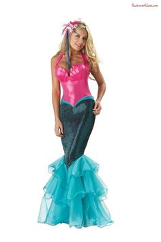 "Mermaid Elite Collection Adult Costume. This would obviously need to be toned down for the kids to use for ""Little Mermaid,"" but I kind of dig it."