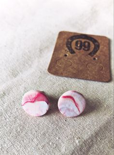 Free shipping on all items! 99 Farm Gift Shop Handmade Jewellery, Unique Jewelry, Handmade Gifts, Handmade Polymer Clay, Polymer Clay Jewelry, Red And White, Etsy Seller, Stud Earrings, Free Shipping