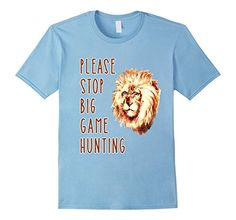 Please Stop Big Game Hunting T-shirt by Scarebaby - Male Small - Baby Blue Scarebaby Design http://www.amazon.com/dp/B016L533NS/ref=cm_sw_r_pi_dp_Kmviwb1Q2BTA0