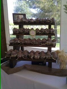 Rustic Cupcake Stand by TheRusticCart on Etsy, $75.00
