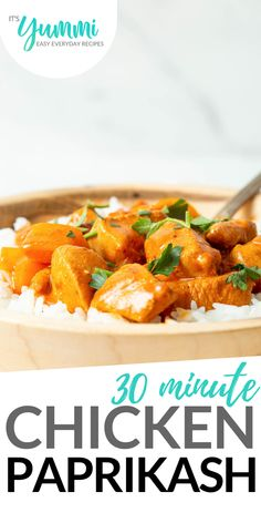 This rich and creamy chicken paprikash recipe is a healthier take of the beloved Hungarian dish. This take on the dish still has all the flavors you love in the classic. Recipe Using Chicken, Easy Chicken Recipes, Real Food Recipes, Cooking Recipes, Easy Recipes, Supper Recipes, Delicious Dinner Recipes, Easy Weekday Meals, Easy Meals