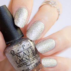 Beautiful Silver nails - OPI Its Frosty Outside