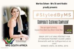 #StyledByMS   Corporate clothing donation campaign