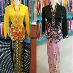 Kebaya nyonya set dengan kain batik selisih ready stock. Kuning available  size L. Harga cdb904df0e
