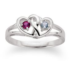 cute promise ring! Put the birthstones of the guy and girl in the heart. That would be adorable!