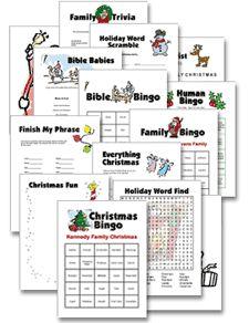 Printable Christmas Games