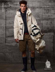 Jonathan Nielssen for Marina Yachting S/S 2012 Marina Yachting, Coat, Jackets, Fashion, Down Jackets, Moda, Sewing Coat, Fashion Styles, Peacoats