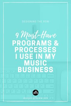 9 Must-Have Programs & Processes I Use In My Music Business Music Is Life, Live Music, My Music, Music Stuff, Blogger Blogs, Music Heals, Indie Music, Business Inspiration, New Things To Learn