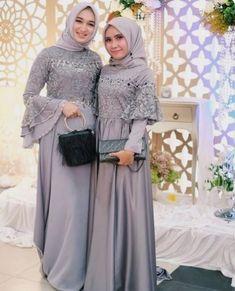 Image may contain: 2 people, people standing Dress Brokat Muslim, Gaun Dress, Dress Brukat, Hijab Dress Party, Hijab Style Dress, Dress Pesta, Muslim Dress, Batik Dress, The Dress