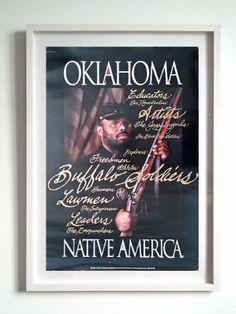 Quadro buffalo soldier Oklahoma native america - Decoração de ambiente