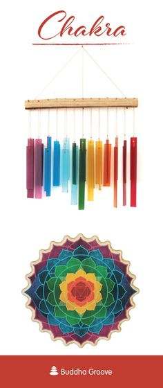 Chakra Symbols, Lotus Design, Meditation Space, Chakra Healing, Crafts To Sell, Wind Chimes, Mandala, Rainbow, Things To Sell