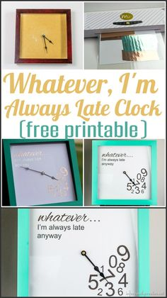 Vinyl in piration on pinterest acrylic tumblers for Whatever clock diy
