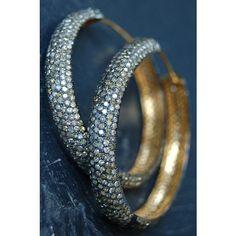 Rona Pfeiffer Diamond Hoop Earrings