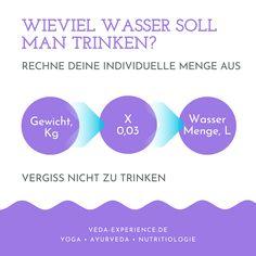 Wasserkur mit HydraMax Ayurveda, Lunge, Chart, Water Cycle, Drinking Water, Life