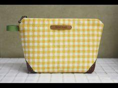 Zippered Handbag Cosmetic Bag Tutorial Косметичка своими руками