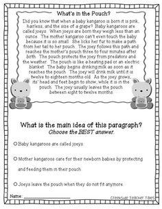 Main Idea Comprehension Passages: Animals & Habitats   Main idea ...