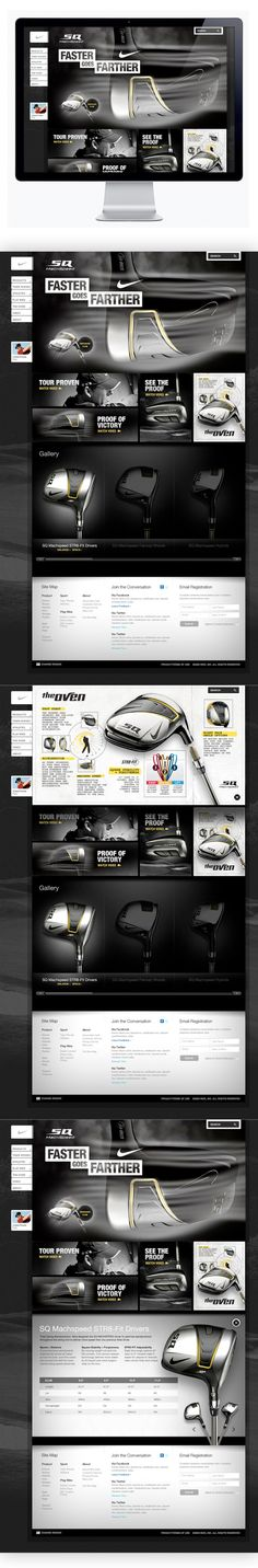 Nike Golf - Machspeed | #webdesign #it #web #design #layout #userinterface #website #webdesign <<< repinned by an #advertising #agency from #Hamburg / #Germany - www.BlickeDeeler.de | Follow us on www.facebook.com/BlickeDeeler