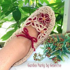Instant Download - Crochet Pattern - Garden Party Slippers PDF 14 on Etsy, $4.95