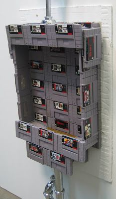 It's the ultimate mancave accessory- a urinal made from Super Nintendo video game cartridges. The folks at pricecharting got all handy and geeky and made Old Nintendo Games, Super Nintendo, Gaming Furniture, Home Id, Gamer Room, Retro Video Games, Old Video, Bathroom Humor, Best Games