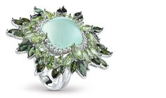 Splashing Vivaldi Collection by Damiani, green chalcedony ring