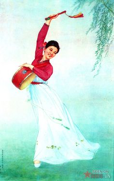 Pure beauty, rustic and desires of women than most North Koreans have been shown through the paintings, including art and posters by artists of the country perform in decade from 1970 to 1980.