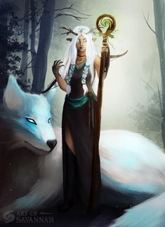 ArtStation - Wood Elf Druid - Dungeons and Dragons Commission ...
