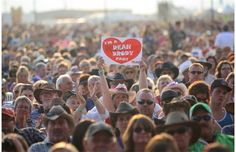 A woman in the audience shows her love for country singer Dean Brody during his show at the Big Valley Jamboree. #BVJ2014