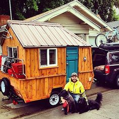 If you've been looking for a tiny home you can take with you, travel with, and go on adventures with. Then you might want to consider a micro cabin like this one. It still has that cabin look…