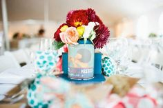 Tabletop Thrift: Tin Cans as Centerpieces