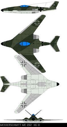 Messerschmitt Me-262 HGIII by bagera3005 on DeviantArt