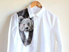 Handpainted unique shirt Bear  on shoulder cute by Dariacreative