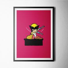Wolverine poster design for home,office wall decoration #wolverine #comics #poster #decoration #home #kids #kidsroom #movies #tvseries #hero #poster #wall #wallart #decor