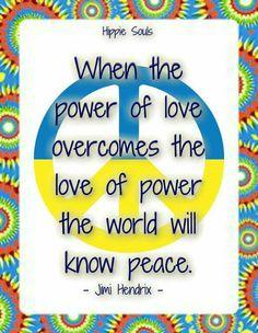 Jimi Hendrix Peace Quote....