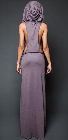 SEXY HOODED MAXI DRESS
