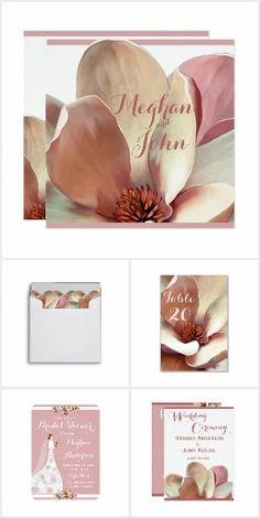 Magnolia Blush - Wedding Stationery Collection