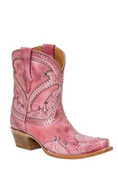 Style:  M4975  Vamp:  Pink Cowhide Leather  Quarter:  Pink  Material:  Cowhide Leather  Color:  Pink  Height:  9  Sole:  Leather
