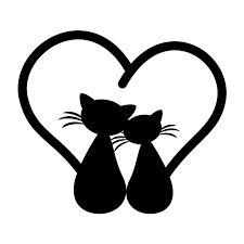 Sticker cats in love – animal stickers & wall stickers – Car stickers Cat Gifts, Cat Lover Gifts, Cat Lovers, Silhouette Chat, Cat Themed Gifts, Rock Crafts, Cat Drawing, Cat Tattoo, Car Stickers