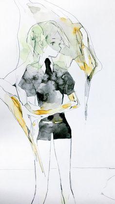 Illustration Sketches, Manga, Watercolor Art, Cool Art, Art Drawings, Anime Art, Character Design, Animation, Cartoon