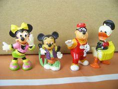 Überraschungseier Ü Ei Ferrero Figuren 4 Mickey Donald Duck Disney selten alt