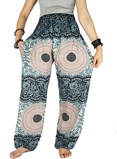 Street Pants Peacock Pants Aladdin Pants Baggy Haram Pants - I love these pants! So comfy and pretty print.