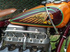 Inline 4 Cylinder Tank Shift Indian Motorcycle (See Comments Below For Full Shot) | Flickr - Photo Sharing!