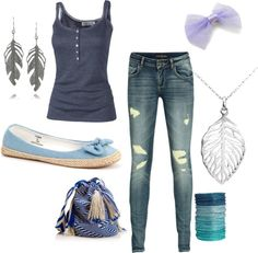 Blue., created by annielouisee on Polyvore