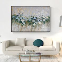 Framed Paintings On Canvas original art flower painting white palette knife heavy texture blue floral art wall painting abstract canvas Photo Wall Art, Abstract Art Painting, Wall Art Painting, Painting, Abstract Canvas, Canvas Painting, Original Art, Painting Frames, Abstract Floral Paintings