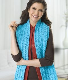Baby Cable Scarf Free Crochet Pattern from Red Heart Yarns