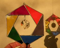 Stained Glass Rainbow triangle of triangles by ravenglassgirl